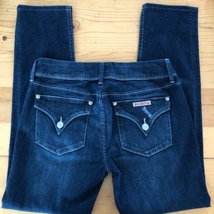 Hudson Distressed Collin Skinny Jeans size 28